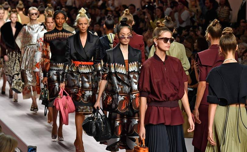 Tool belts and cycling shorts trending at Milan Fashion Week