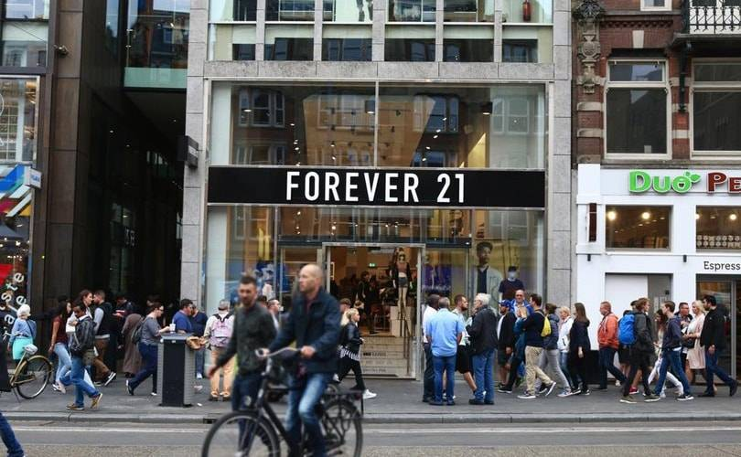 "Forever21 files for bankruptcy, ""takes positivesteps to return to profitability"""