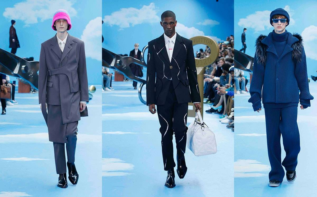 Abloh swaps streetwear for structure in Louis Vuitton AW20 menswear show