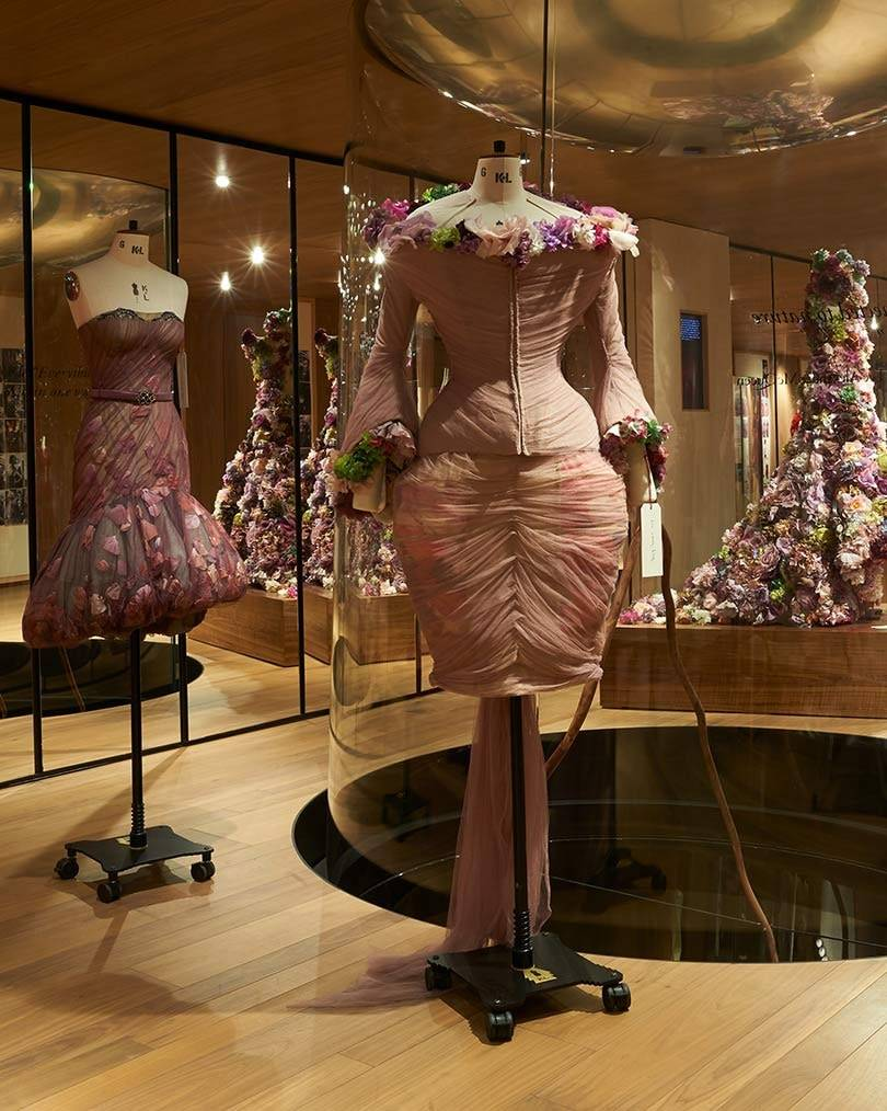 Alexander McQueen opens 'Roses' exhibition at London flagship