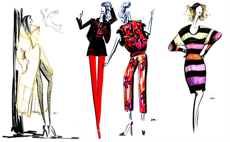 Illustrations: H&M's designer collaborations in picture