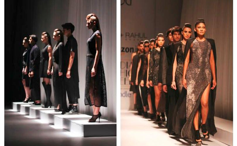 AIFW Day 2: Black and other dark shades rule the ramp