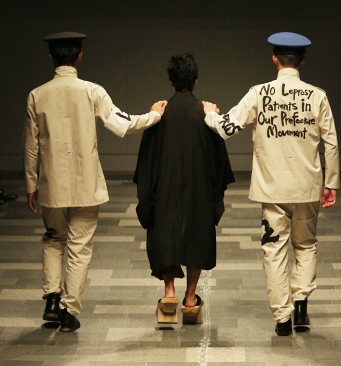 Former leper takes to Tokyo runway to fight stigma