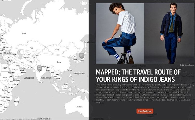 The travel route of your Kings of Indigo jeans