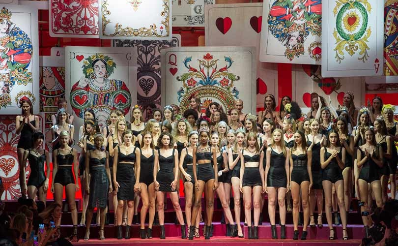 D&G's 'queen of hearts' fetes strong women at Milan Fashion Week