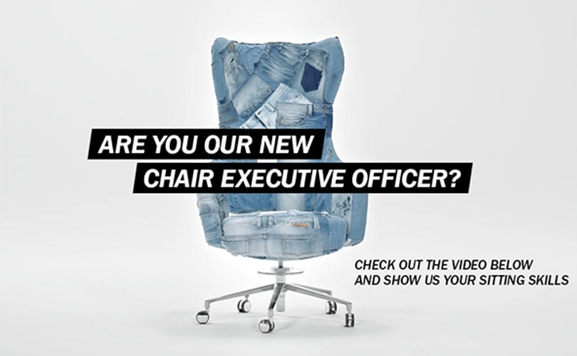 Diesel launches campaign for 'chair executive officer'
