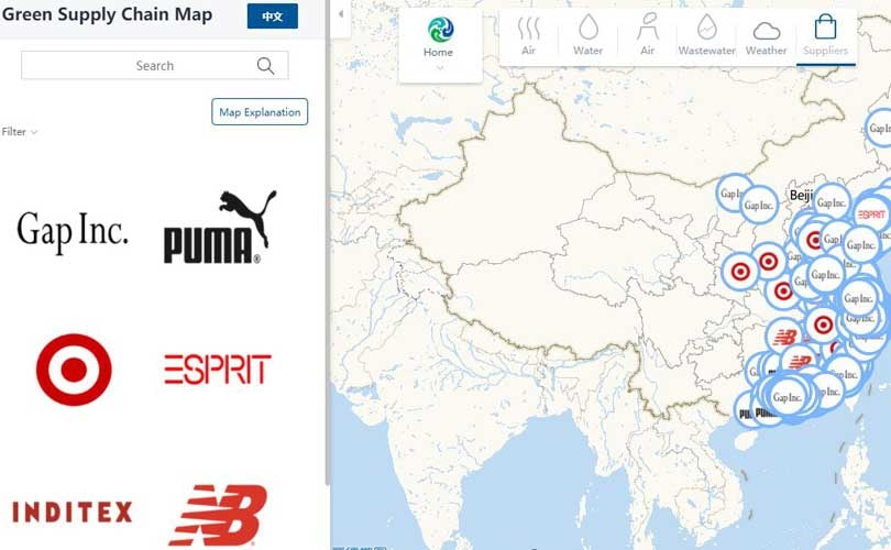 Worlds first green supply chain map links brands to factories in china gumiabroncs Gallery