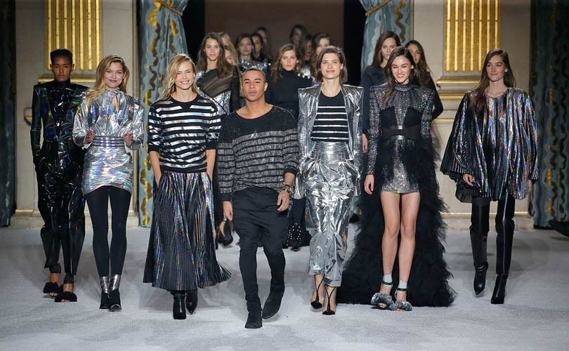 Paris catwalk dazzles as Balmain leads charge of flash brigade