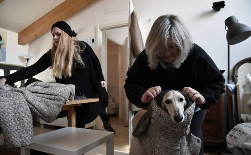 Canine couture cuts a dash in Italy's fashion capital