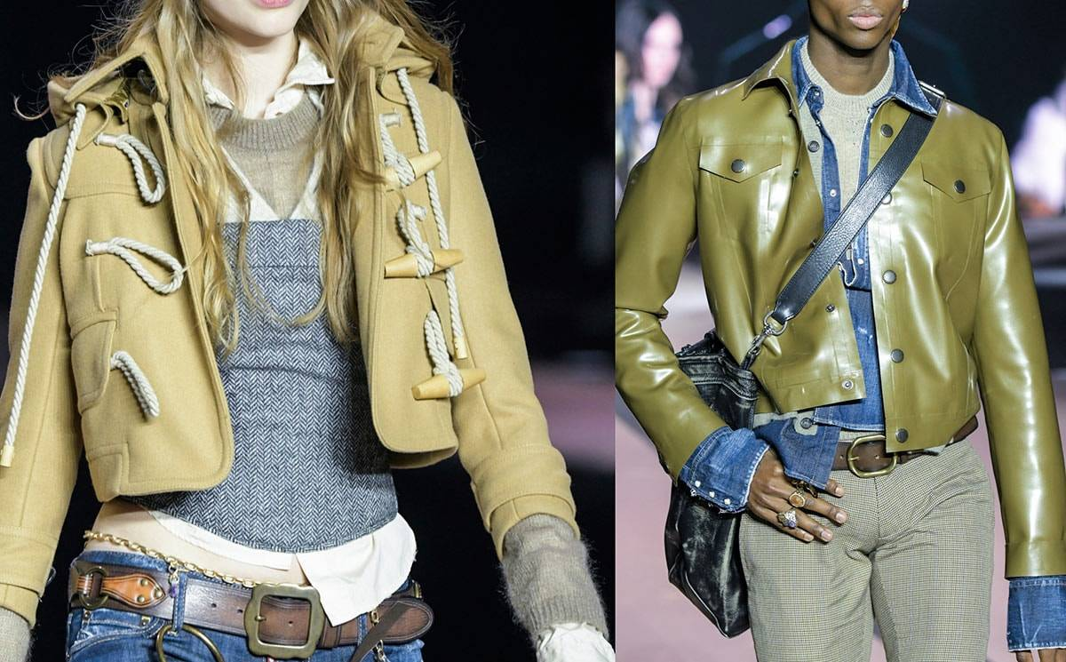 Milan men's fashion week: Dsquared2 shows leather and Zegna goes green