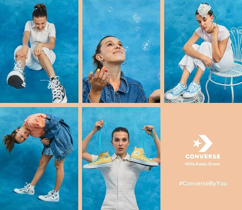 Converse collaborates with Stranger Things star Millie Bobby Brown