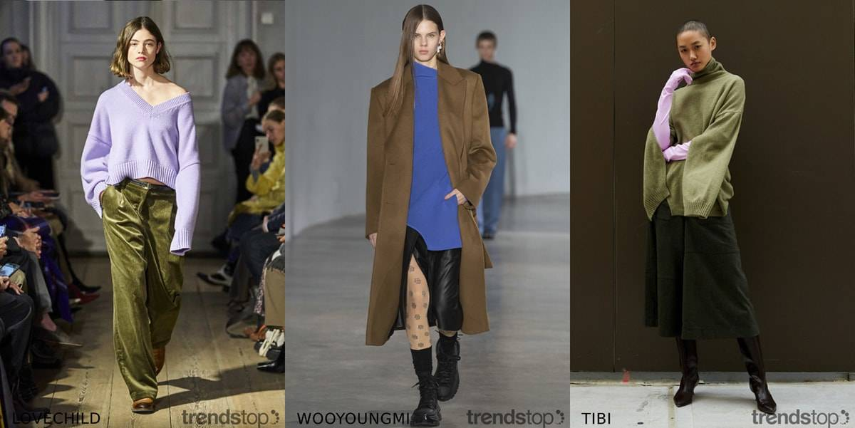 AW2020/21 Womenswear colour trends on the catwalks